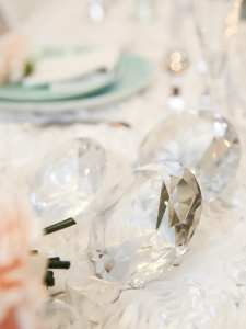 Diamond table decorations