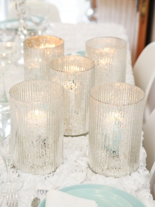 Luxury candle lit glass lanterns