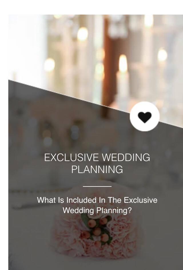 Exclusive wedding planning