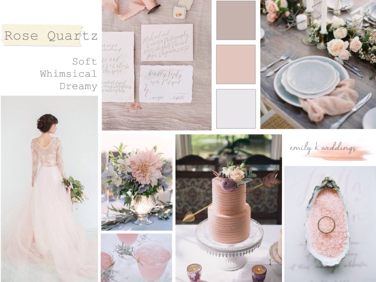 rose quartz wedding,whimsical dreamy wedding,
