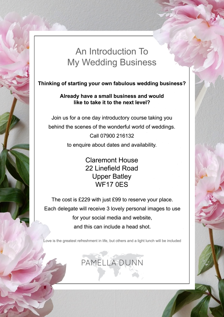 register,enrol,wedding course enrolment,wedding business training, Leeds wedding course, Yorkshire wedding course,