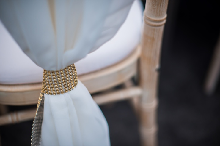 chair details, wedding chairs, chiavari chairs, hire chair sashes, luxury wedding chair detail