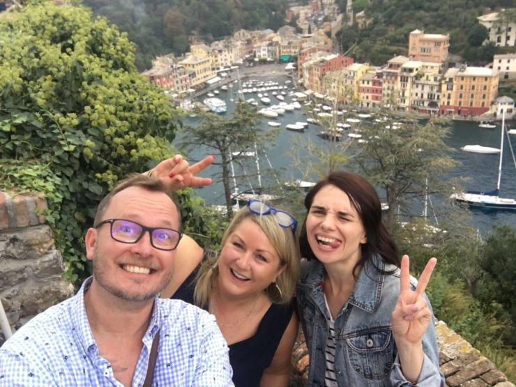 portofino, Italy wedding planner selfie, wedding planners on tour,