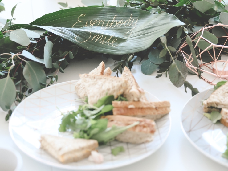 styling, foliage garland, lunchtime, geometric,