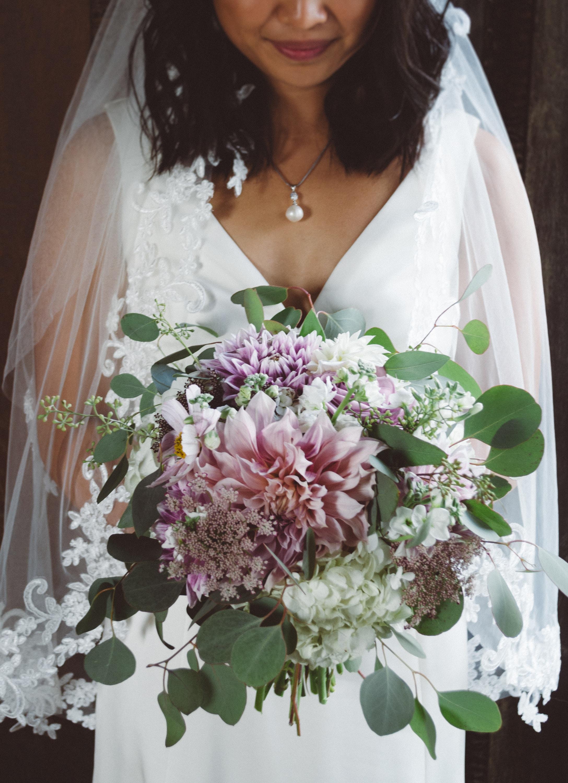 wedding flowers, bridal bouquet, dahlia, pink wedding bouquet, large bouquet,